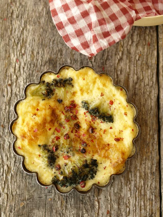 brócoli y camembert